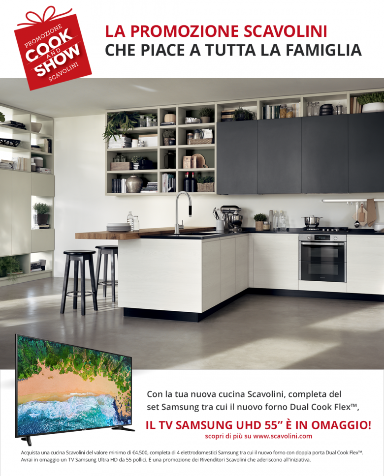 cook and show scavolini